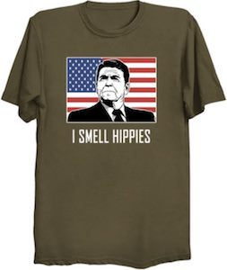 Ronald Reagan I Smell Hippies T-Shirt