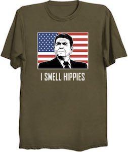 Ronald Reagan I Smell Hippies T-Shirt