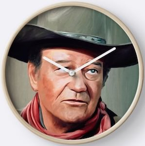 John Wayne Wall Clock