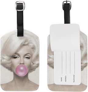 Marilyn Monroe Blowing Bubbles Luggage Tag