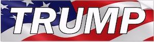 President Trump Flag Bumper Sticker