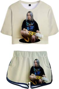 Billie Eilish Shorts And Shirt Set