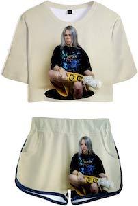Billie Eilish Shorts And Shirt Set