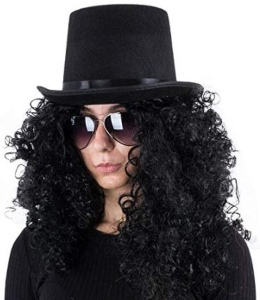 Slash Saul Hudson Hat Wig And Glasses Costume