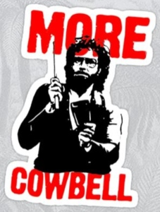 Will Ferrell More Cowbell Sticker Decal