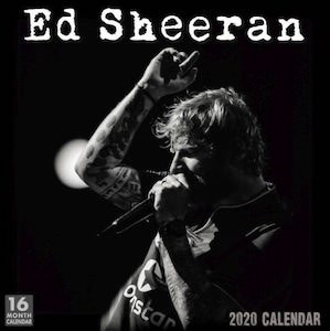 2020 Ed Sheeran Wall Calendar