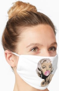 Marylin Monroe Bubble Gum Face Mask