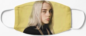 Yellow Billie Eilish Face Mask