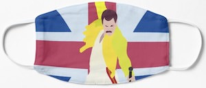 Freddy Mercury Union Jack Face Mask