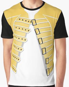 Freddie Mercury Yellow Jacket Costume T-Shirt