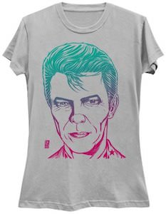 Color Gradient David Bowie Portrait T-Shirt
