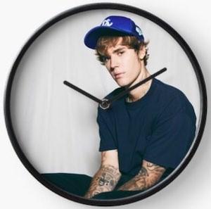 Justin Bieber Wall Clock