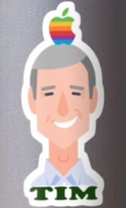 Tim Cook Apple Sticker