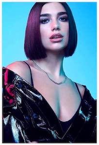 Purple Hair Dua Lipa Poster