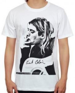 Kurt Cobain Smoking Guitar T-Shirt