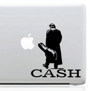 Johnny Cash Man In Black Decal