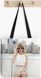 Taylor Swift Skyline Photo Tote Bag