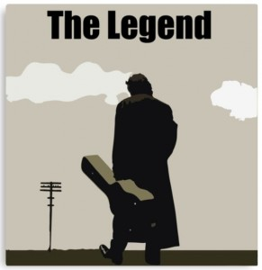 Johnny Cash The Legend Canvas Print