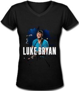 Luke Bryan Black Women's T-Shirt