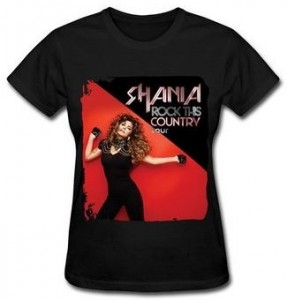Shania Twain Rock This Country Tour T-Shirt