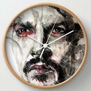 Johnny Depp Face Sketch Round Wall Clock