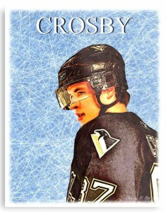 Sidney Crosby On Ice Metal Sign