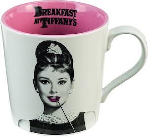 White And Pink Audrey Hepburn Mug