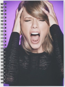 Screaming Taylor Swift Spiral Notebook