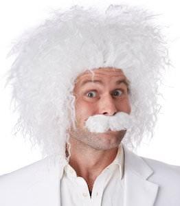 Albert Einstein Wig And Moustache Set For Halloween