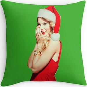 Taylor Swift Christmas Pillow