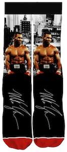 Mike Tyson Autograph Socks