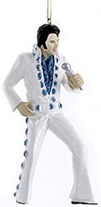 Elvis Presley White Suit Christmas Ornament