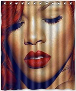 Rihanna Loud Shower Curtain
