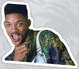 Will Smith As The Fresh Prince Vinyl Sticker