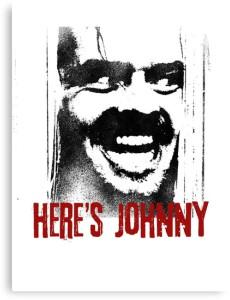 Jack Nicholson Here's Johnny Canvas Print
