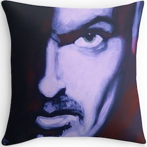 George Micheal Throw Pillow