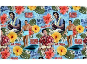 Elvis Blue Hawaii Beach Towel