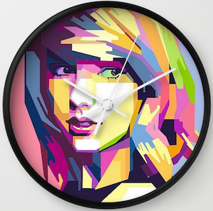 Pop Art Taylor Swift Wall Clock