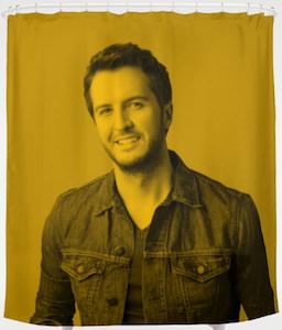 Luke Bryan Shower Curtain