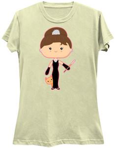 Audrey Hepburn And Cat T-Shirt