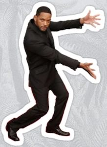 Presenting Will Smith Sticker