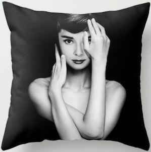 Audrey Hepburn arms pillow