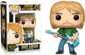 Kurt Cobain And Blue Guitar Figurine