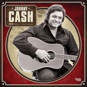 2019 Johnny Cash Wall Calendar