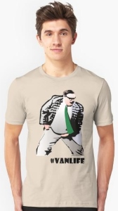Chris Farley Matt Foley Vanlife T-Shirt