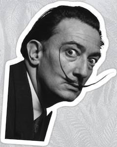 Salvador Dali Watching Sticker