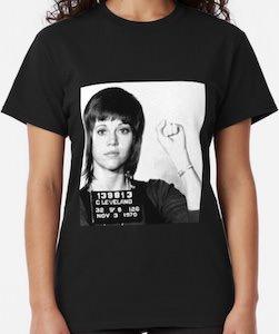 Jane Fonda Young Mugshot T-Shirt