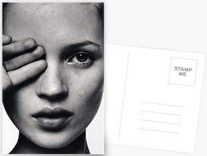 Kate Moss Fingers On Face Postcard