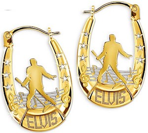 Elvis Gold And Crystals Earrings