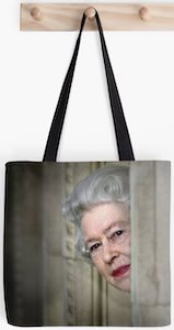The Queen Peeking Tote Bag